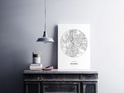 Róma úthálózata körben poszteren - világos-2