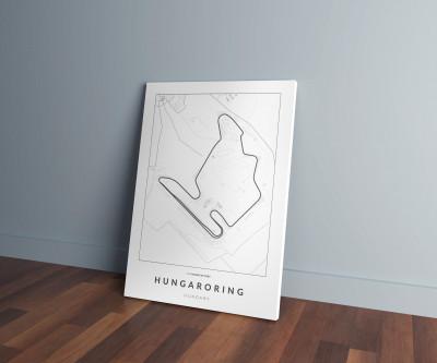 Hungaroring versenypálya vászonképen - világos-0