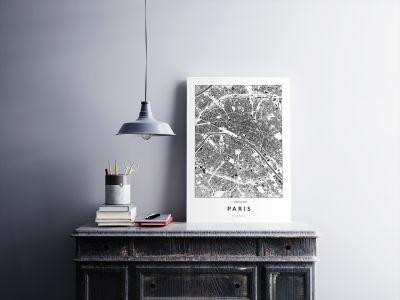 Párizs épületei poszteren - világos-2