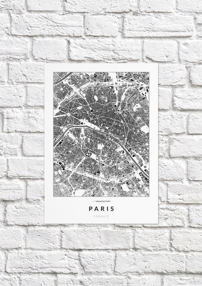 Párizs épületei poszteren - világos-1