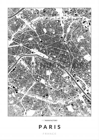 Párizs épületei poszteren - világos-0