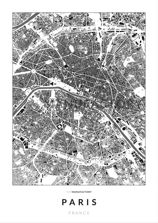 Párizs épületei poszteren - világos