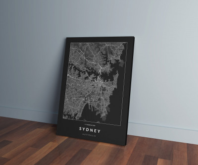 Sydney úthálózata vászonképen - sötét-0
