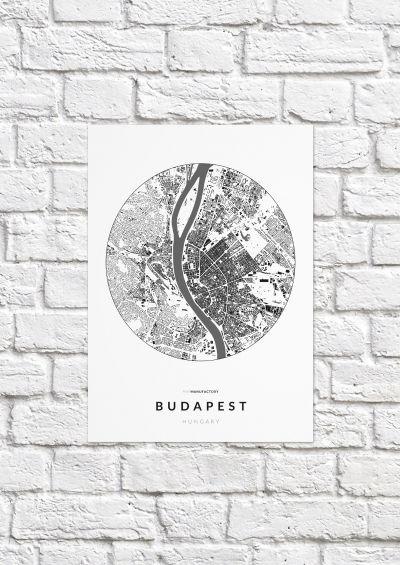Budapest épületei körben poszteren - világos-1
