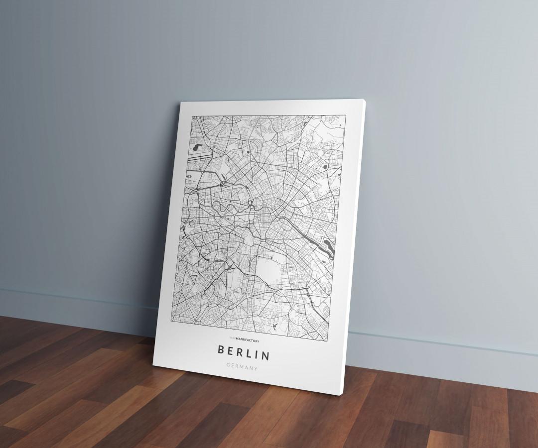 Berlin úthálózata vászonképen - világos