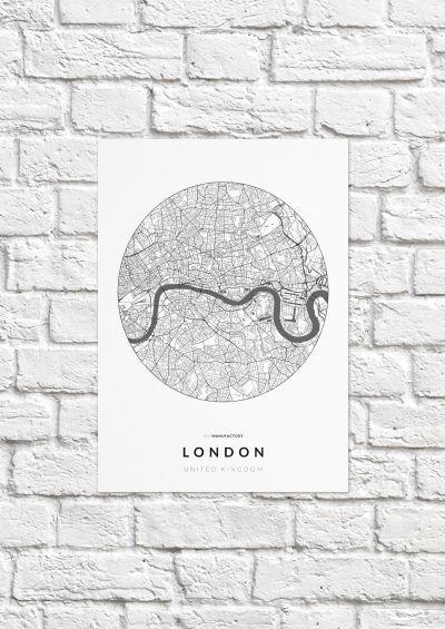 London úthálózata körben poszteren - világos-1