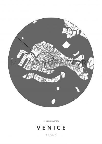 Velence úthálózata közelről poszteren - világos