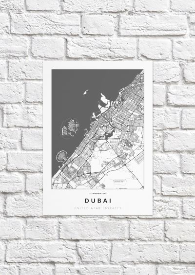 Dubai úthálózata poszteren - világos-1