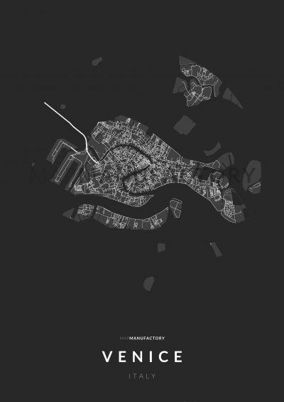 Velence úthálózata közelről poszteren - sötét