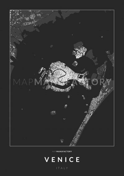 Velence épületei poszteren - sötét