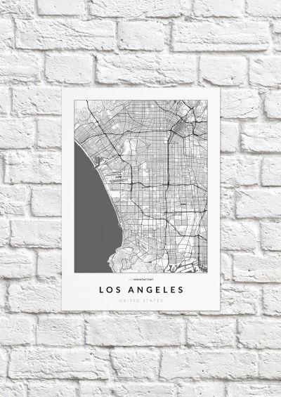 Los Angeles úthálózata poszteren - világos-1