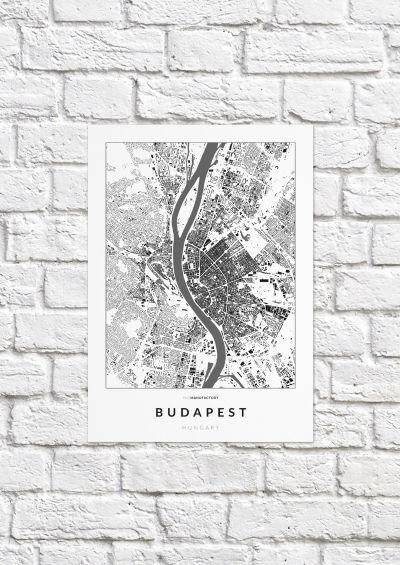 Budapest épületei poszteren - világos-1