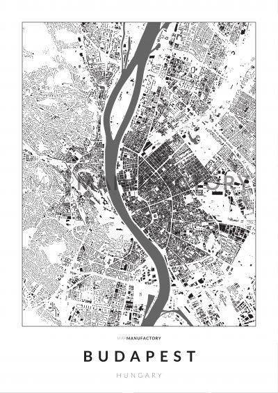 Budapest épületei poszteren - világos