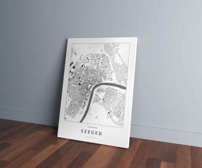 Szeged épületei vászonképen - világos