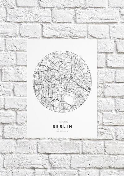 Berlin úthálózata körben poszteren - világos-1