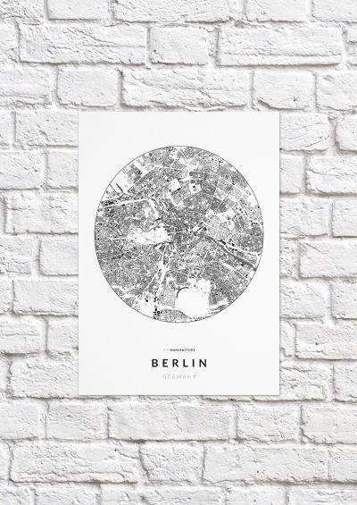 Berlin épületei körben poszteren - világos-1