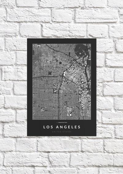 Los Angeles épületei poszteren - sötét-1