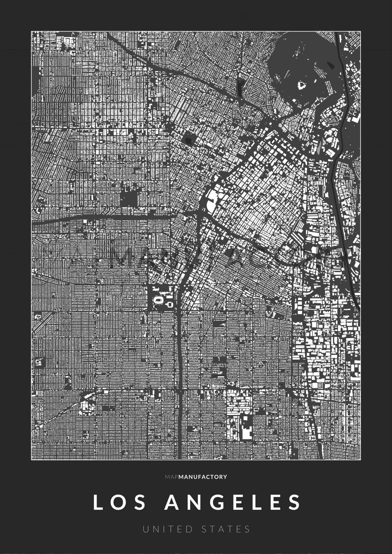 Los Angeles épületei poszteren - sötét