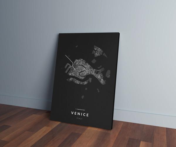 Velence úthálózata közelről vászonképen - sötét
