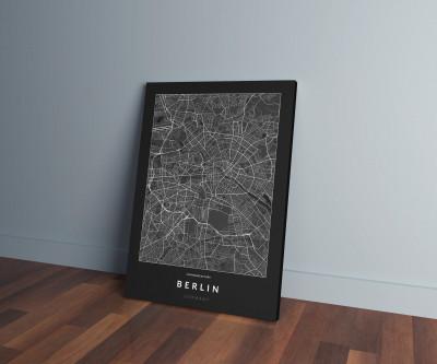 Berlin úthálózata vászonképen - sötét-0