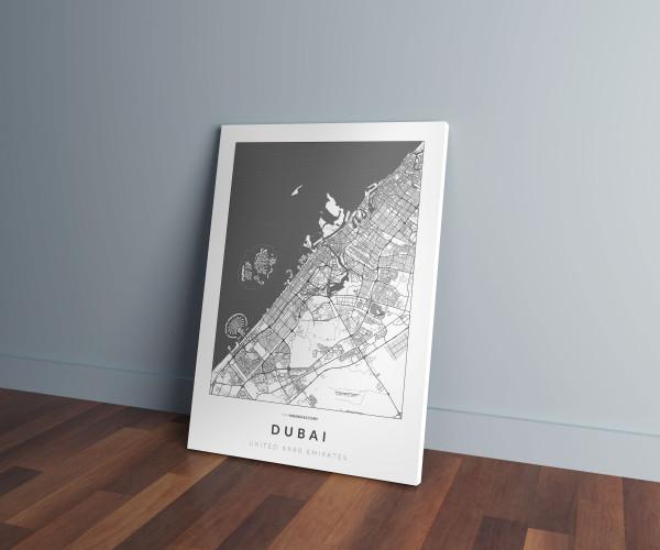 Dubai úthálózata vászonképen - világos