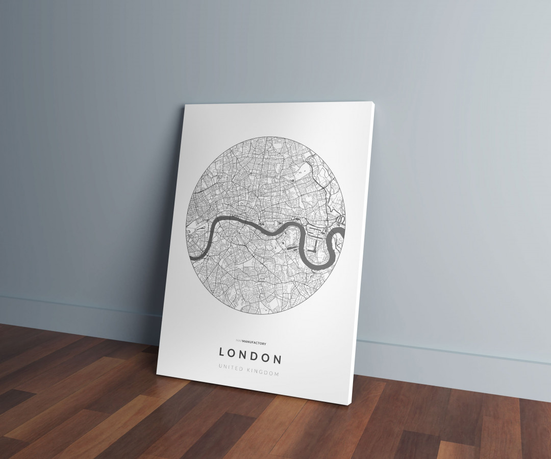 London úthálózata körben vászonképen - világos