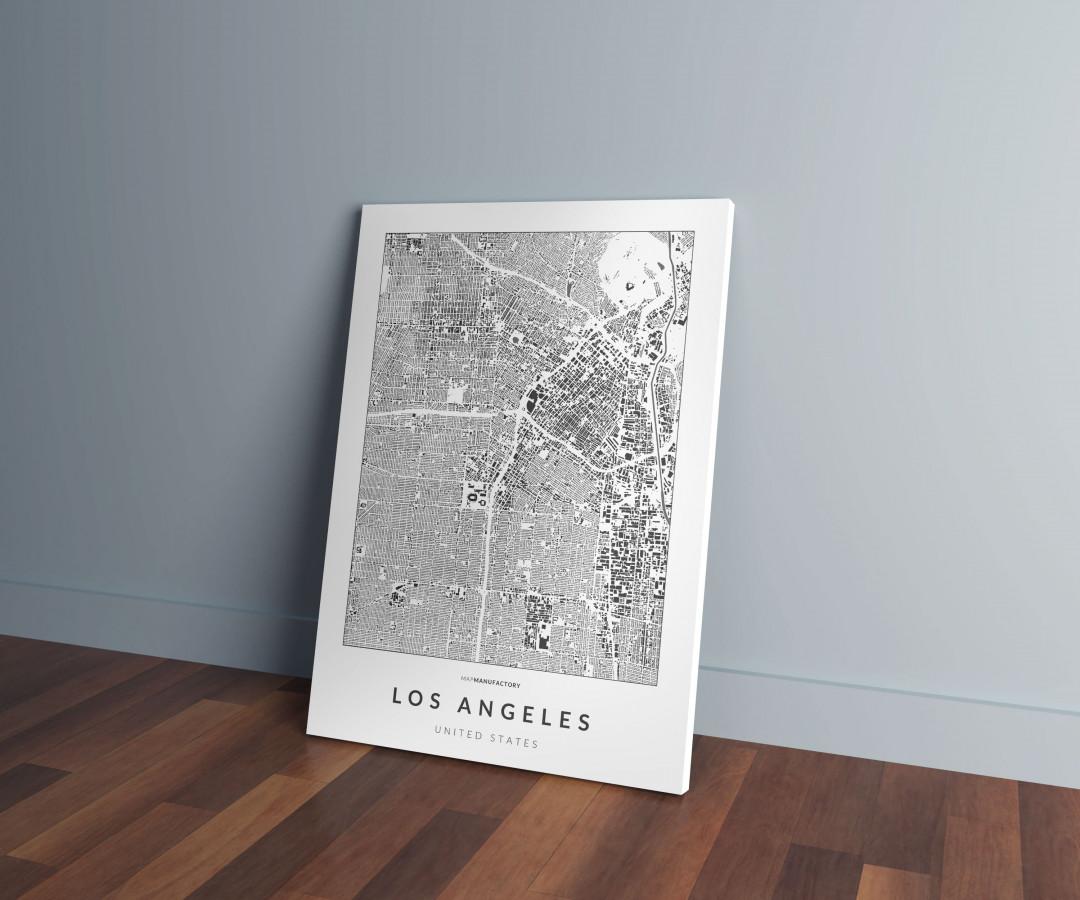 Los Angeles épületei vászonképen - világos