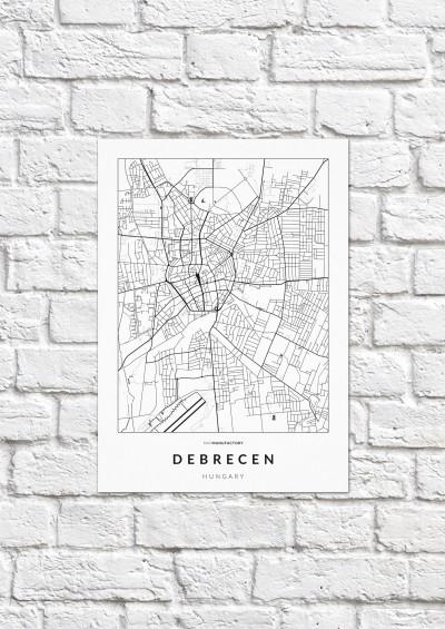 Debrecen úthálózata poszteren - világos-1
