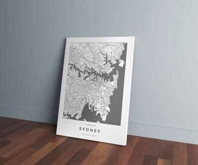 Sydney úthálózata vászonképen - világos-0