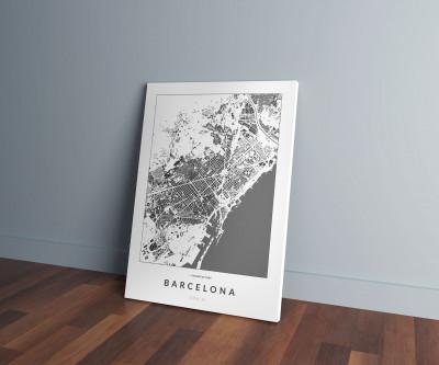 Barcelona épületei vászonképen - világos
